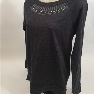 Rue 21 size small gray embellished long sleeve ❤️